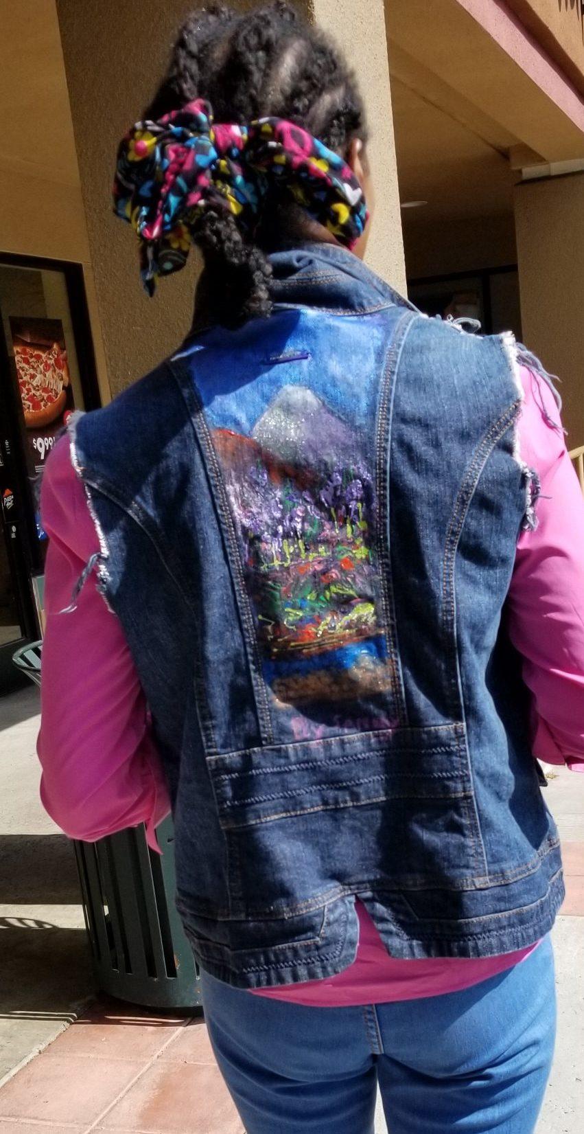 Jacket with Mountain Scene
